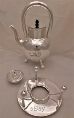 Arts and Crafts Silver Plated Tea Kettle and Stand Christopher Dresser Type 1880