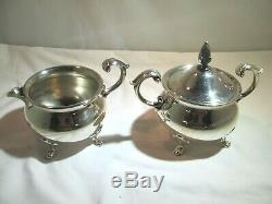 BRISTOL SILVER by POOLE 5-piece Antique Coffee & Tea Service with Tray