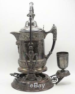 Barbour Bros. Silver Plated Tea Coffee Tilting Samovar Dispenser Antique 1880's
