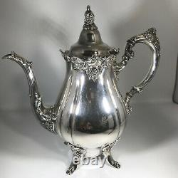 Baroque By Wallace 5 Piece Tea Service Set. Silver Plated Beautiful Condition