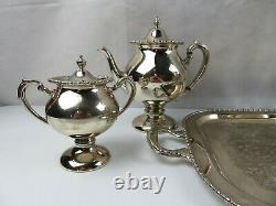 Beautiful Elegant Silver on Copper Coffee Tea set of 6 pcs