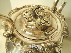 Beautiful Silverplate Tea Set 6pc Silver On Copper