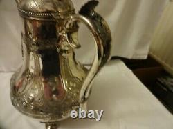 Beautiful Vintage Ornate James Dixon & Sons Epbm Silver Plated 3 Piece Tea Set
