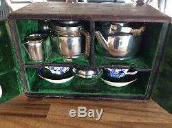 C1899 Rare Christopher Dresser For Leuchars Asprey Travel Tea Set Silverplated