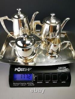 CHRISTOFLE Art Deco Silver plated coffee pot / Tea egoiste set 5 pcs