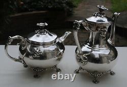 CHRISTOFLE SERVICE THE CAFE METAL ARGENTE ART NOUVEAU Silverplate Tea Coffee Set
