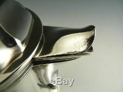 CHRISTOFLE Silver Plate Gallia ART DECO Pattern 4 Piece Tea & Coffee Set