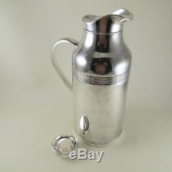 CHRISTOFLE Silverplate Insulated Thermos 3 Cup Carafe for Tea Coffee