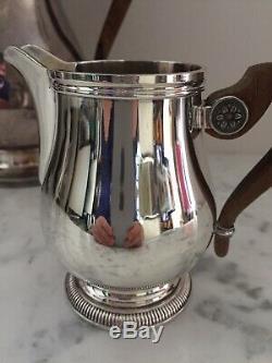 CHRISTOFLE silver plated Coffee Tea sugar creamer set 3 pieces France