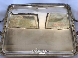 CHRISTOFLE silver plated Coffee Tea sugar creamer set 4 MARLY Louis XV + Tray