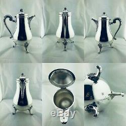 CHRISTOFLE silver plated Tea Coffee set sugar creamer set 4 Pcs MARLY Perfect