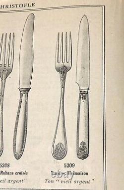 Christofle Antique Empire Malmaison Silverplated Tea/coffee Spoons Set Of 12 Pcs