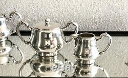 Christofle Antique Silverplated Art Deco Coffee & Tea Set 4 Pcs