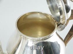 Christofle Gallia Silver Plated 4 Pc Tea Set Tea, Coffee, Creamer & Sugar Bowl