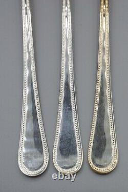 Christofle Hotel Perles Silverplate Iced Tea Spoons Set of 12 7 1/8