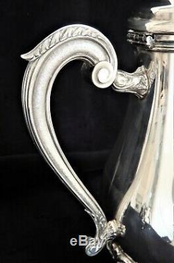 Christofle MARLY Tea Set Teapot Coffee Pot Sugar. Creamer French Silver Plate