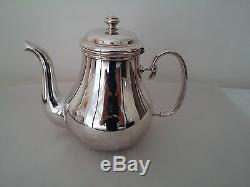 Christofle Silver Plate Bagatelle Tea and Coffee Set with Tray