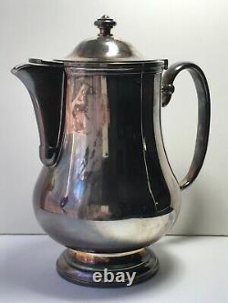 Christofle Silver Plated Coffee Tea Pot France Hotel Collection