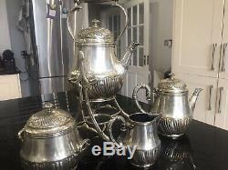 Christofle Sterling Silver Plated Cofee Tea Set! With Samovar