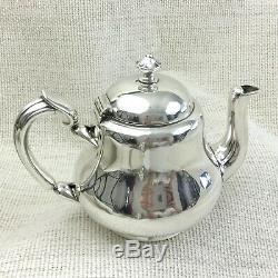 Christofle Teapot Silver Plated Antique French Small Bachelor Breakfast Tea Pot