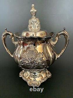 Christopher Wren By Wallace Silverplate Tea & Coffee Service 6 Pcs Set
