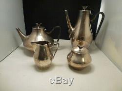 Denmark by Reed and Barton Silverplate Tea Set 4pc JOHN PRIP