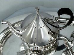 Dimension 1960 Reed & Barton Mid-century Modern Tea Set Tray Long Hinge