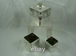 EXTREMELY rare, `THE CUBE` silver plated TEA SET, c1900
