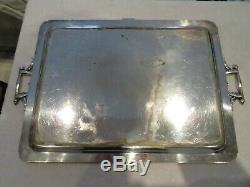 Early 20th c silver-plated Gallia christofle tea serving tray Louis XVI st