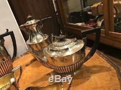 Edwardian Silver Plate Tea And Coffee Set