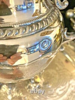 Elegant 1930s Goldfeder Silver on Copper 6 Piece Tea & Coffee Service