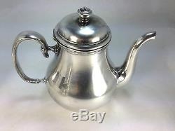 Elegant Christofle Silver Plate Albi Pattern Tea & Coffe Creamer & Sugar Set