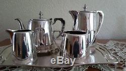 Elkington&Co 1931 Art Deco 6 Piece Silver Plate Tea Set (Very Good Condition)