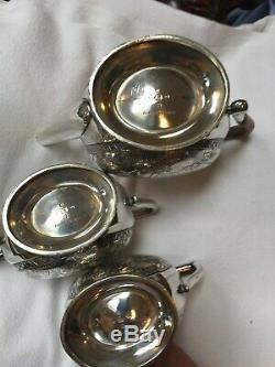 Elkington Silver Plated Astetic Art Movement Anglo Japanese Tea Service