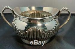 English SILVER PLATE 4 pc WILLIAM HUTTON Tea Pot/Coffee Pot/Cream & Sugar