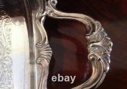 English Victorian Silver Plate Style 6 Pc Tea Set By Viners Sheffield