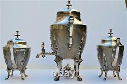 Exceptional Meriden Britannia circa 1870's Silverplated Tea Service