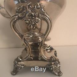 Exquisite Antique English Silver Plate Tilting Tea Pot 1871 WG Sissons, Sheffield