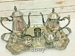 FB Rogers Silver Plated Co 1883 Vintage Full Coffee Tea Set Authentic