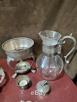 F. B. Rogers Silver Co. 1883 Silver Plate 13 Piece Coffee Tea Set