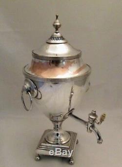 Fine Georgian Old Sheffield Plate Tea Urn / Samovar c1800