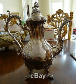 Five (5) Piece Reed and Barton Silver Plated Winthrop Pattern Tea Service