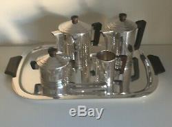 French Art Deco 6-Piece Coffee/Tea Service by Ercuis Saigon Model 1934