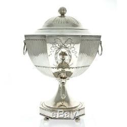 George III Old Sheffield Plate Tea Urn England Circa 1795