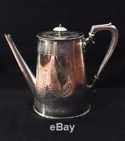 Georgian Old Sheffield Plate Silver 4pc. Tea/Coffee Set +tray