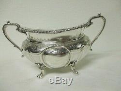 Georgian Style Christopher Johnson Sheffield English Silverplate Tea Service Set