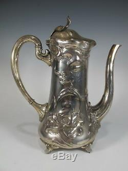 German WMF Art Nouveau Tea & Coffee Pot Set # AS/M231