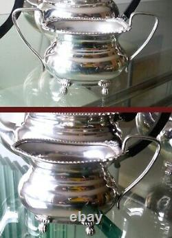 Gleaming 4pc Sheffield Silver Plated Vintage Coffee/tea Set-viners %