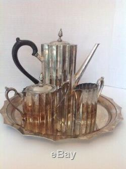 Godinger Silver Plated Museum Re-creations 1980's 4 PCS Coffee/tea Set by