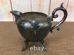 Gorgeous 5-piece Vintage Silver On Copper Tea Set By Birmingham Silver Co Bsc